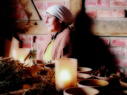 Szene vom mittelalterlichen Barbaramarkt 2011